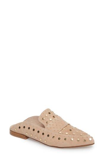 Kristin Cavallari Charlie Studded Loafer Mule- Pink