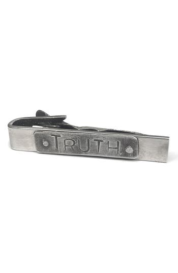 title of work Truth Sterling Silver Tie Bar