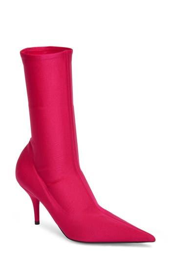 Balenciaga Pointy Toe Mid Bootie, Pink