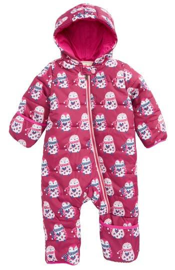 Infant Girls Hatley Winter Bundler Quilted WaterResistant Hooded Snowsuit