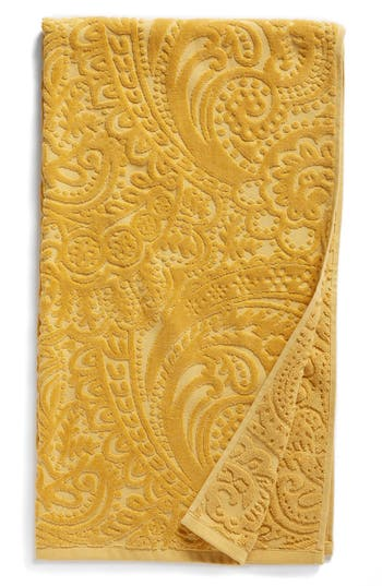 Nordstrom At Home Elisa Turkish Cotton Bath Towel, Size One Size - Yellow