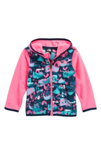 Infant Girls The North Face Glacier Hooded Fleece Jacket