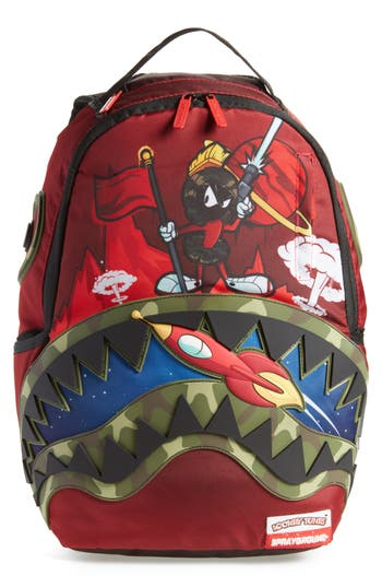 Men's Sprayground Camo Marvin The Martian Backpack - Red