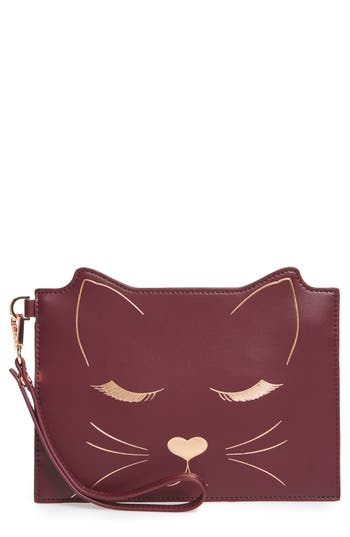 Ted Baker London Felixea Leather Pouch - Red