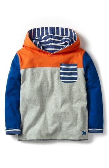 Boy's Mini Boden Reversible Hoodie, Size 9-10Y - Grey