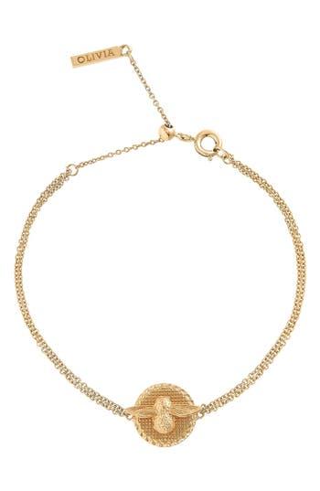 Women's Olivia Burton Bee Coin Bracelet
