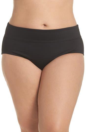 Plus Size Nike Full Bikini Bottoms, Black