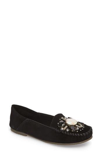 Women's Free People Embellished Loafer Moccasin, Size 6US / 36EU - Black