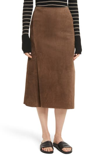 Women's Vince Suede Slit Skirt at NORDSTROM.com