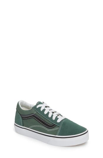 Boys Vans Old Skool Sneaker Size 5 M  Green