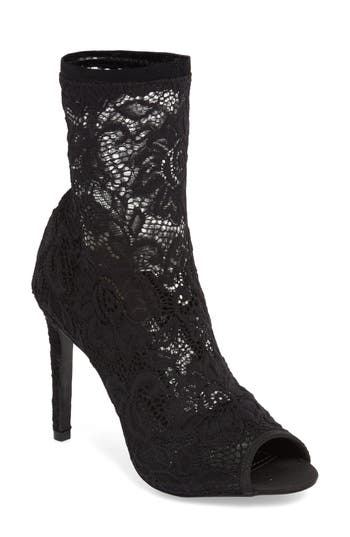Charles By Charles David Imaginary Lace Sock Bootie, Black