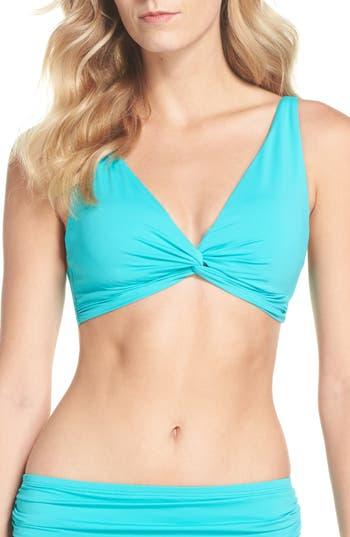 Tommy Bahama Pearl Twist Front Underwire Bikini Top, Blue/green