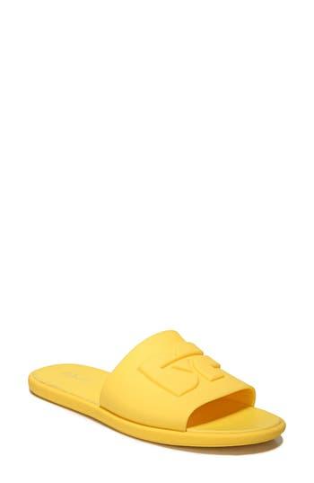 Women's Diane Von Furstenberg Kellan Slide Sandal, Size 5 M - Yellow