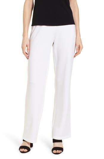 Eileen Fisher Straight Leg Pants, White
