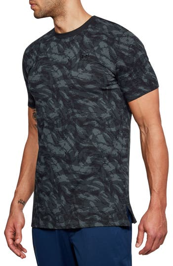 Under Armour Sportstyle Print Charged Cotton Fitted T-Shirt, Black