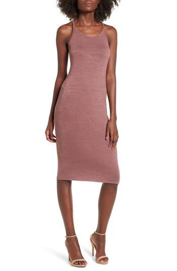 Leith Melange Body-Con Dress, Purple
