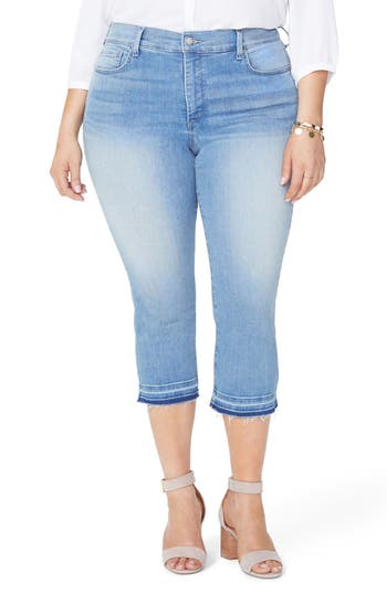Plus Size Nydj Released Hem Capri Skinny Jeans, Blue