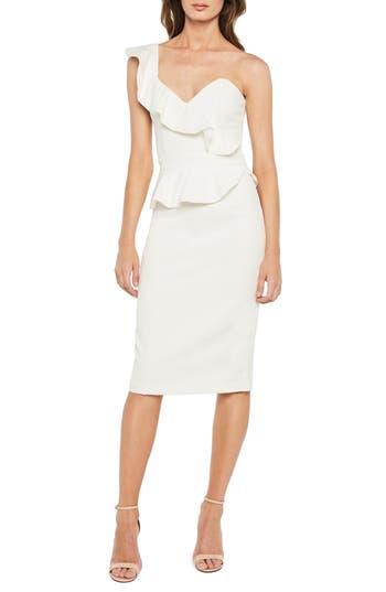 Bardot Camellia One-Shoulder Sheath Dress