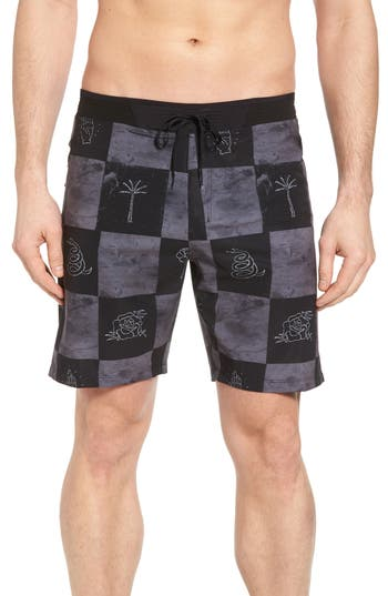 Hurley Phantom Hyperweave 3.0 Board Shorts, Black