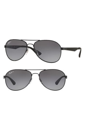 Ray-Ban Active Lifestyle 61Mm Polarized Pilot Sunglasses - Black