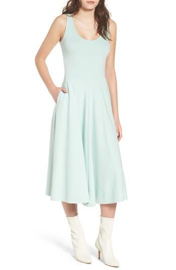 Leith Stretch Knit Midi Dress, Blue/green