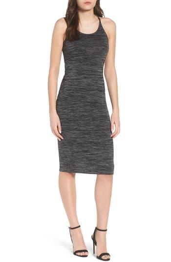 Leith Melange Body-Con Dress, Grey