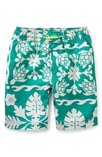 Boy's Tea Collection Print Board Shorts, Size 4 - Green