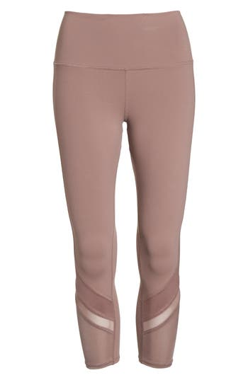 Alo Elevate High Waist Capri Leggings, Pink