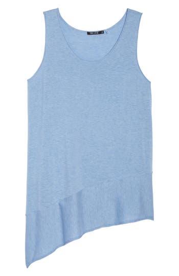 Plus Size Nic+Zoe Traveler Asymmetrical Hem Tank Top, Blue