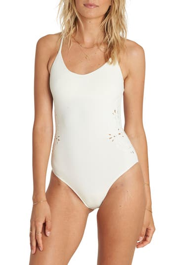 Billabong Bright One One-Piece Swimsuit, White