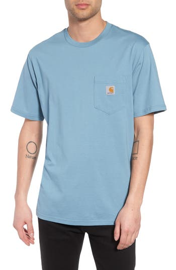 Carhartt Work In Progress Logo Pocket T-Shirt, Blue