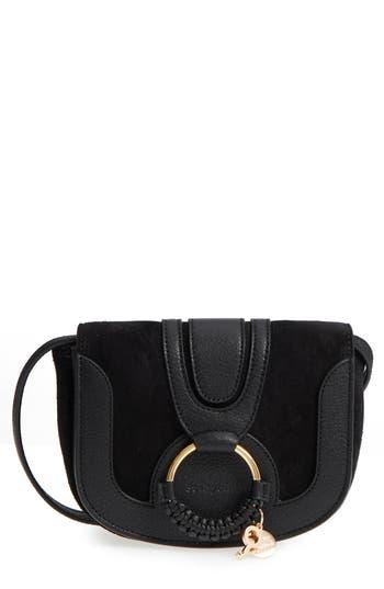See By Chloe Mini Hana Leather Crossbody Bag - Black