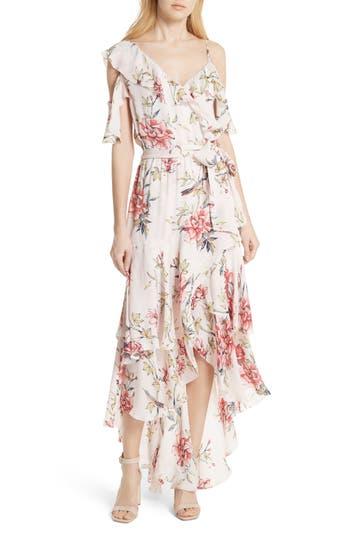 Joie Cristeta Floral Silk Maxi Dress, Pink