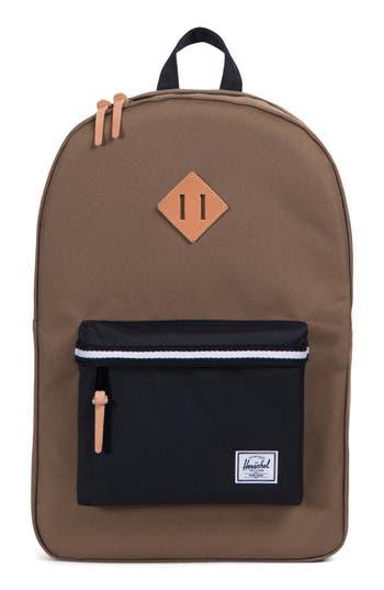Herschel Supply Co. Heritage Offset Stripe Backpack - Brown