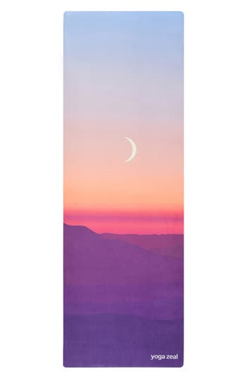 Yoga Zeal Moon Sunrise Print Yoga Mat