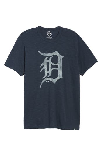 47 male mens 47 mlb grit scrum detroit tigers tshirt size small blue