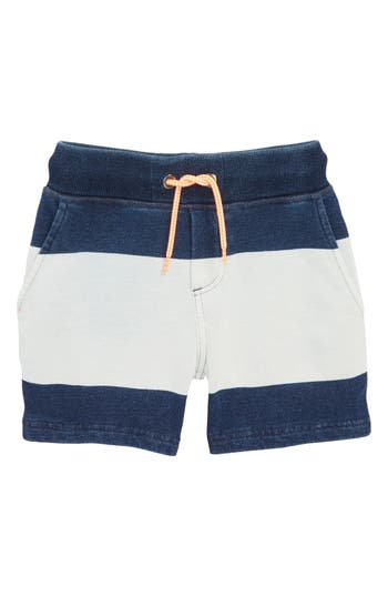 Boys Mini Boden Embroidered Jersey Shorts