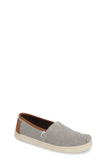 Boys Toms Chambray SlipOn Size 5 M  Grey
