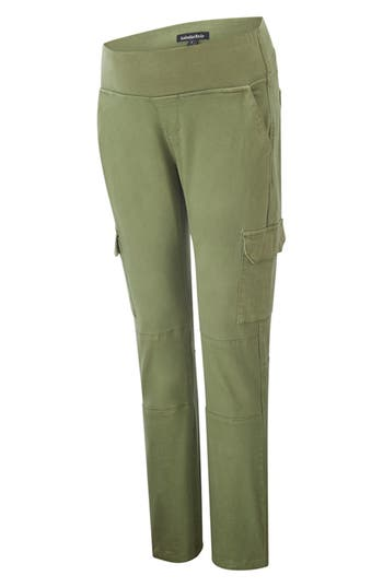 Isabella Oliver Maternity Cargo Pants, Green