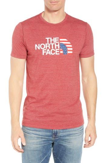 d2b8add78 Americana Crewneck T-Shirt, Cardinal Red Heather