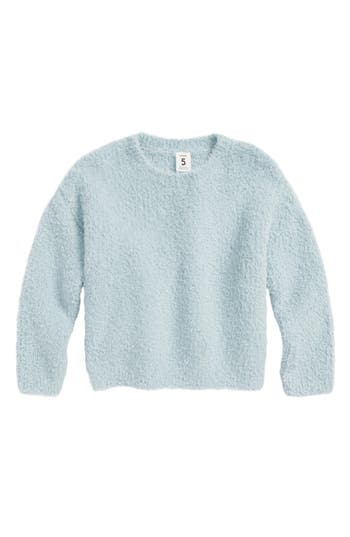 Girls Stem Fluffy Pullover Sweater