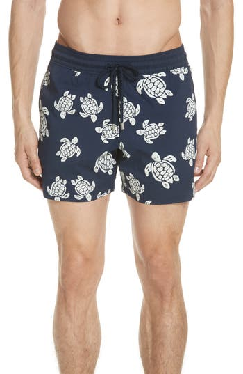 Vilebrequin Glow In The Dark Turtle Swim Trunks, Blue
