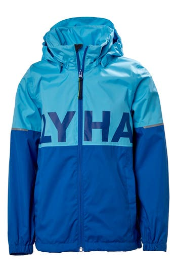 Boys Helly Hansen Block It Hooded Jacket Size 16  Blue