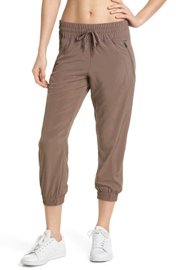 Zella Out & About 2 Crop Pants, Brown