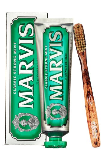 C.O. BIGELOW MARVIS TOOTHPASTE & TOOTHBRUSH SET