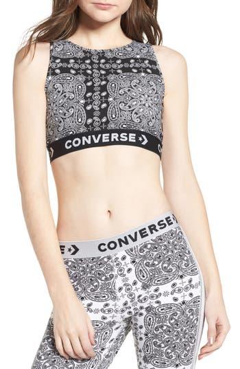 Converse X Miley Cyrus Bandana Print Sports Bra, Black