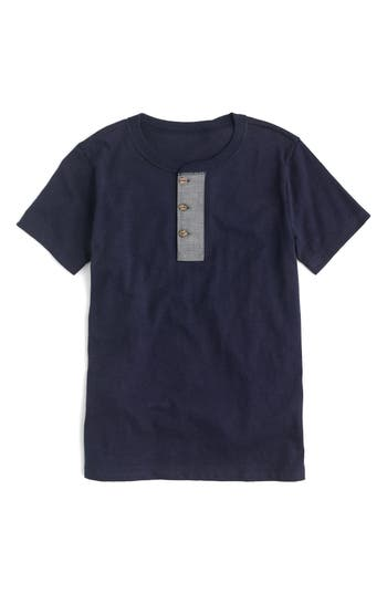 Boys Crewcuts By Jcrew Slub Henley Shirt