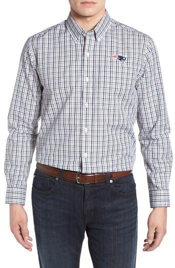 Cutter & Buck New England Patriots - Gilman Regular Fit Plaid Sport Shirt