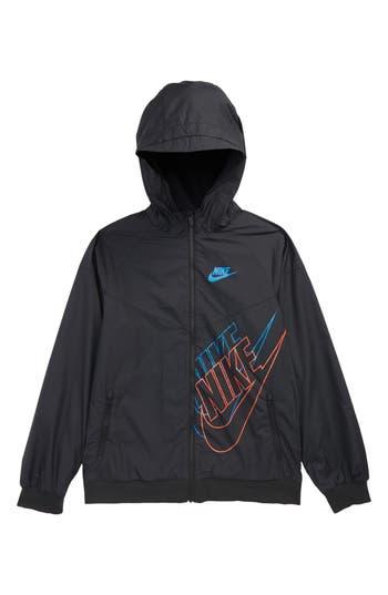 Boys Nike Sportswear Windrunner Jacket Size XS  7  Black