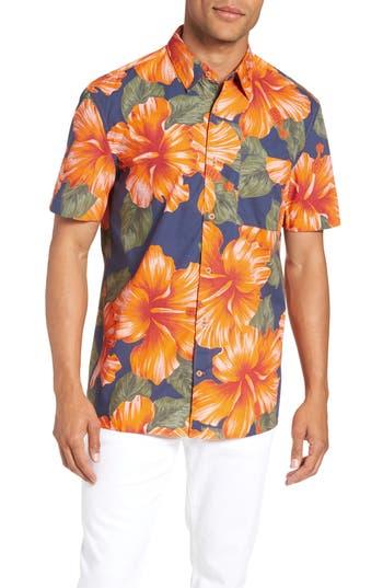 men's french connection wela regular fit hawaiian camp shirt